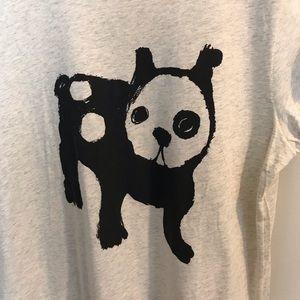 H&M Tops - H&M French Bull Dog Panda Graphic T-Shirt Size L